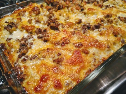 cheeseburg and cauliflower hash